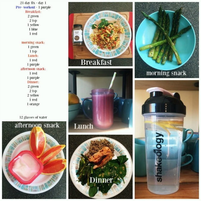 21 day fix day1